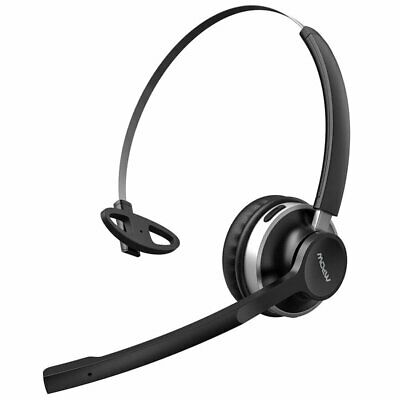 Mpow HC3 Wireless Bluetooth Headset Headphone Dual Mic For Drivers Skype Calling • 29.99£