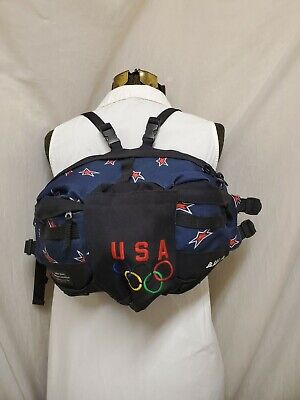£21.23 • Buy Vtg RARE USA Olympic Committee Bula Back Fanny Pack Bag Official Licensed