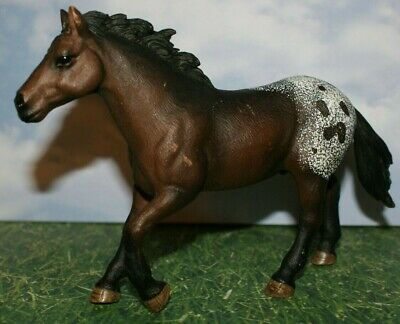 Appaloosa Brown With White Patch Stallion Horse By Schleich 2012 • 10.58£