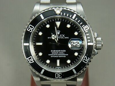 $ CDN11741.45 • Buy Rolex Submariner 16610 U Number Automatic Men's Watch Serviced/OH