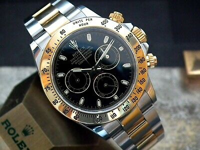 $ CDN25532.25 • Buy Beautiful 2014 Steel & Gold Rolex Oyster Daytona 116523 Full Set