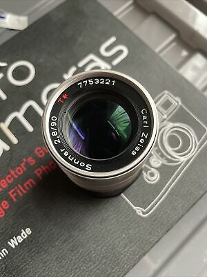 $ CDN265.50 • Buy Contax G Carl Zeiss Sonnar T Lens 90mm F2.8 With Soft Pouch For G1 G2