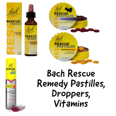 Bach Rescue Remedy Pastilles, Droppers, Vitamins • 4.99£