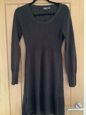 £5 • Buy Brown Jumper Style Knitted Dress By Mexx Size Medium