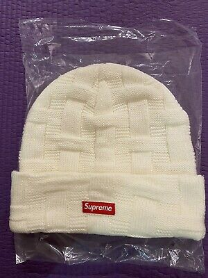 $ CDN78.85 • Buy Supreme Basket Weave Beanie NEW (White) FW 19