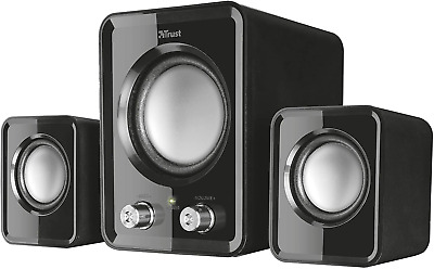 Trust Ziva Compact 2.1 PC Speakers With Subwoofer For Computer And Laptop, 12 W, • 12.99£