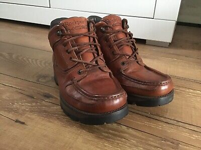 VINTAGE ROCKPORT Boots (Portugal) Size UK 7 Men's  Leather Boots Shoes • 70£