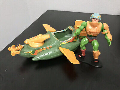 $95 • Buy 1980's Vintage Masters Of The Universe Original. Wind Raider Man At Arms Lot (2)