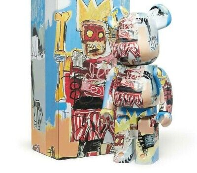 $1100 • Buy Medicom Be@rbrick 2020 Jean-Michel Basquiat #6 The Robot 1000%