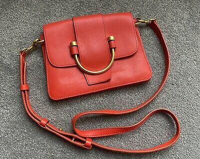 AU79 • Buy Oroton Solo Small Satchel Black Handbag Red