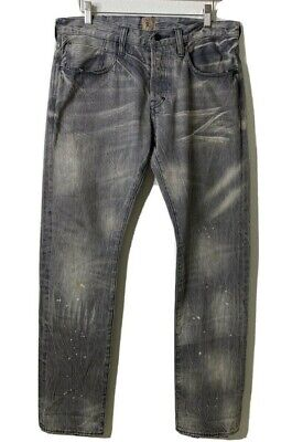 PRPS DEMON JAPAN 32(34)x32 Distressed GREY Wash Jeans SAMPLE • 113.28£