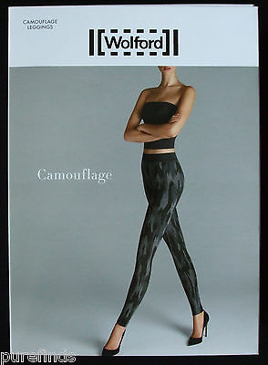 WOLFORD CAMOUFLAGE LEGGINGS SIZE SMALL UK 10 USA 6-8, New In Box • 95£