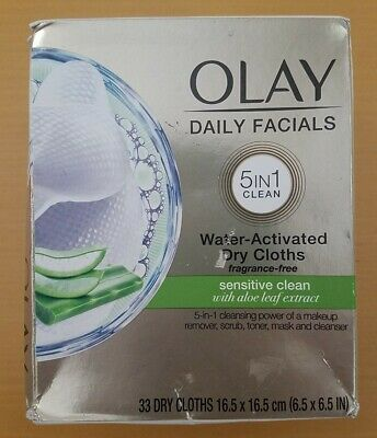 AU12.86 • Buy Olay Daily Facials 5 In 1 Sensitive Clean 33 Dry Cloths Alone Gentle Skin Care