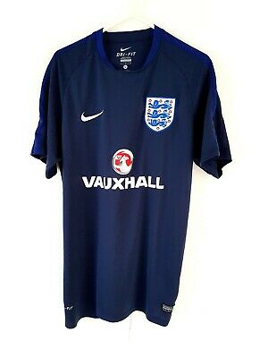 England Training Shirt. Large. Original Nike. Blue Adults Football Top Only L. • 19.99£