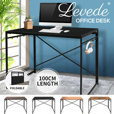 AU75.99 • Buy Office Desk Computer Work Study Gaming Foldable Home Student Table Metal Stable