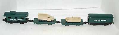 $74.95 • Buy Army Train, O Gauge, 6  Cars With Repro Loads, Repainted Custom Set As Seen