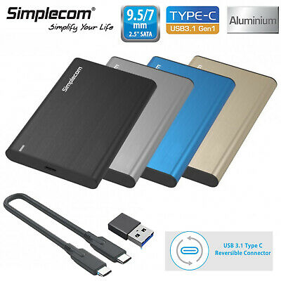 AU20 • Buy Simplecom 2.5'' Inch Hard Drive USB 3.1 Type C Enclosure Case Laptop For HDD SSD