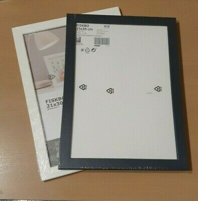 IKEA FISKBO Photo Picture A4 Frame Black White Pink, Dark Blue Or Red, Blue Pink • 4.99£