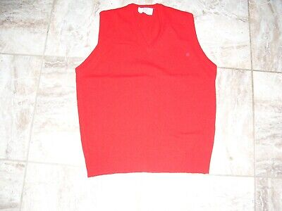 $7.91 • Buy Vtg MADE IN USA Sweater Vest Mens Size L Pure LAMBS Wool Lord Jeff Red