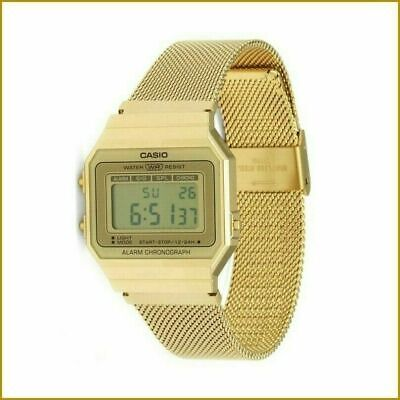 £23.99 • Buy CASIO Chronograph Collection Watch A700WEMG-9AEF In Gold Colour 1 YEAR Warranty