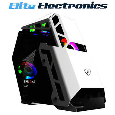 AU159.85 • Buy 1st Player ZX7 ATX Double Panel Tempered Glass PC Gaming Case White