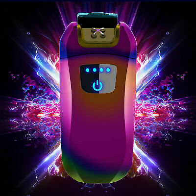 Electric USB Touch Sensor WIndproof Dual Arc Flamless Rechargeable Cigar Lighter • 8.04£