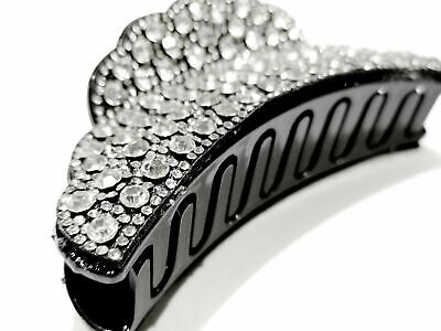 £9.99 • Buy  Large Hair Clip Crystal Diamante Bling Wide Hair Clip Claw Grip Butterfly Clamp