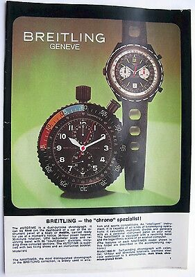 £32.91 • Buy Vintage 70's Breitling Watches Brochure Catalog 8 Pages Print In Germany