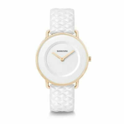 Lambretta Ladies Womens Mia 34 Quilted Rose Gold White Wrist Watch • 34.99£