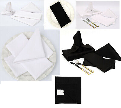 £8.99 • Buy Cotton Napkins Pack Of 12 Bright And Quirky Garden Party By White, Black UK    .