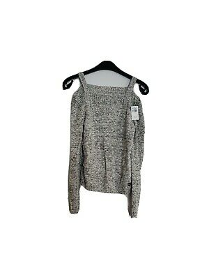 CL3# Abercrombie And Fitch Girl's Strap Off The Shoulder Grey Jumper Age 11/12  • 19.99£
