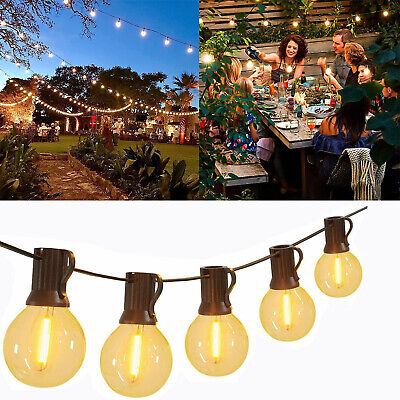 50FT LED Outdoor Globe Festoon String Lights G40 Bulb Xmas Patio Garden Party • 41.35£
