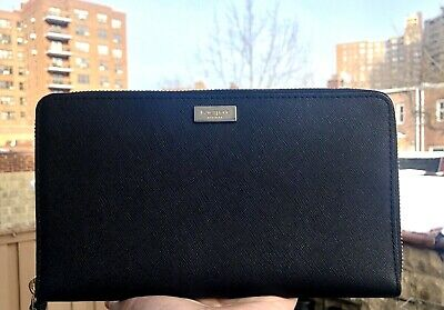 $ CDN136.36 • Buy KATE SPADE Laurel Way TALLA Extra Large Travel Wallet Black Leather New NWT $229