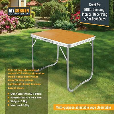 Portable 2.3 Ft Folding Aluminium Camping Table Bbq Party Outdoor Picnic • 23.49£