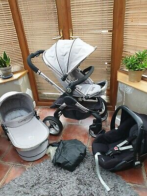ICANDY PEACH 2 Silvermint Grey  Travel System Post Uk  Lovely Condition  • 349.99£