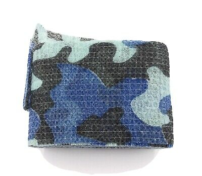 £3.95 • Buy Blue Woodland Lizard Camo Tape Woodland Stealth Hunting Camouflage Gun Wrap UK