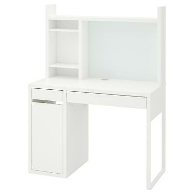 NEW IKEA Micke White Computer Desk Drawer Home OR Office 105x50cm • 187.80£
