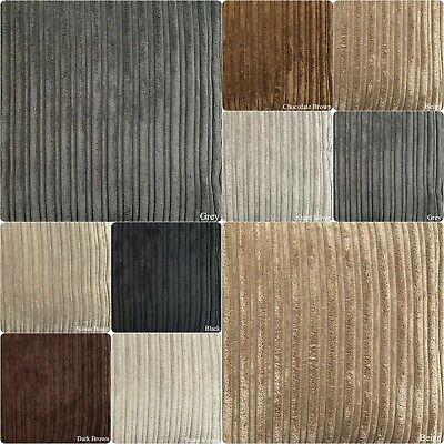 £8.99 • Buy Supreme Quality Soft Jumbo Cord Upholstery Curtains Cushions Fabric 8 Colours