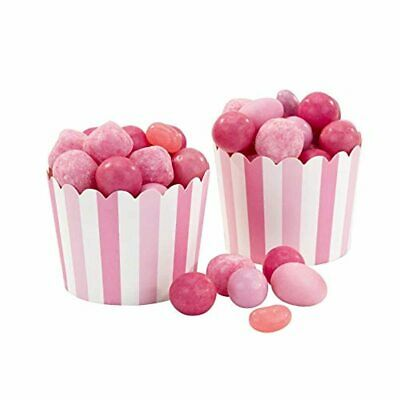 Talking Tables Pack Of 20 Pink & White Paper Ice Cream Sweets Dessert Treat Tubs • 5.64£