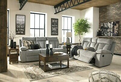 $1395 • Buy Ashley Furniture Mitchiner Reclining Sofa And Loveseat Living Room Set