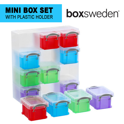 AU19.97 • Buy Set Of 12 Mini Box & Holder Home Storage Drawer Desk Organiser Plastic Container