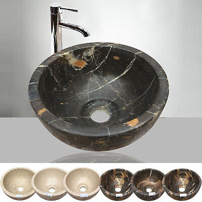 Marble Basin Sink Onyx Bathroom Counter Top Inset Sink Bowl Stone 10  X 5   • 74.99£