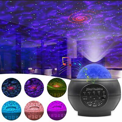 Galaxy Star Cloud Projector Music Night Lights Starry Ocean Wave Lamp Remote UK • 10.99£