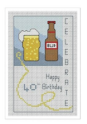 £6.25 • Buy 40th Birthday Card Kit, 'Cheers' Counted Cross Stitch Kit, Card 8  X 6