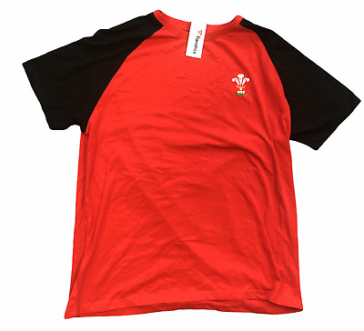 £12.99 • Buy Wales Rugby Pyjama Top Fanatics Supporters Short Sleeve Top - Red - New