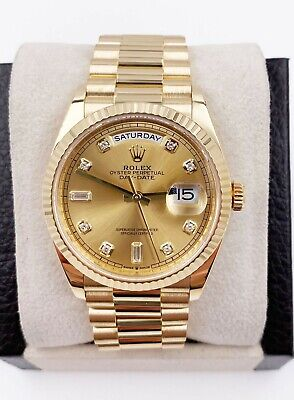 $ CDN45558.85 • Buy Rolex President Day Date 128238 Diamond Dial 18K Yellow Gold Box Papers 2019