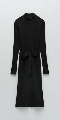 £19.99 • Buy Zara Cotton Ribbed Dress With Bow And Backless Size S CLEARANCE
