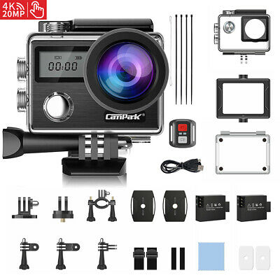 AU99.99 • Buy Campark 4K 20MP Sports Action Camera DVR EIS Video Recorder Waterproof As GoPro