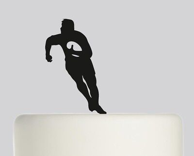 £8.99 • Buy Rugby Player Cake Topper, Birthday, Celebration 3mm Acrylic 120mm Topper.523