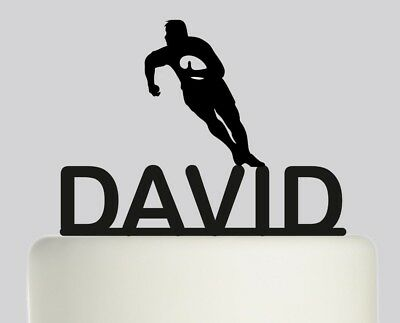 £16.99 • Buy Rugby Player Personalised Acrylic Topper Birthday Cake Topper.343